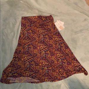 NWT XS lularoe azure skirt